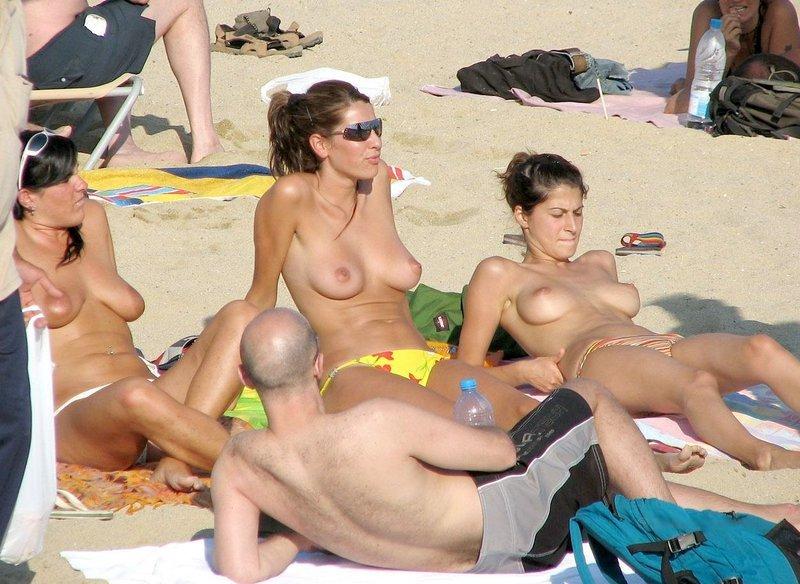 Tetas en la playa