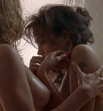Sexo lésbico de Angelina Jolie en Gia