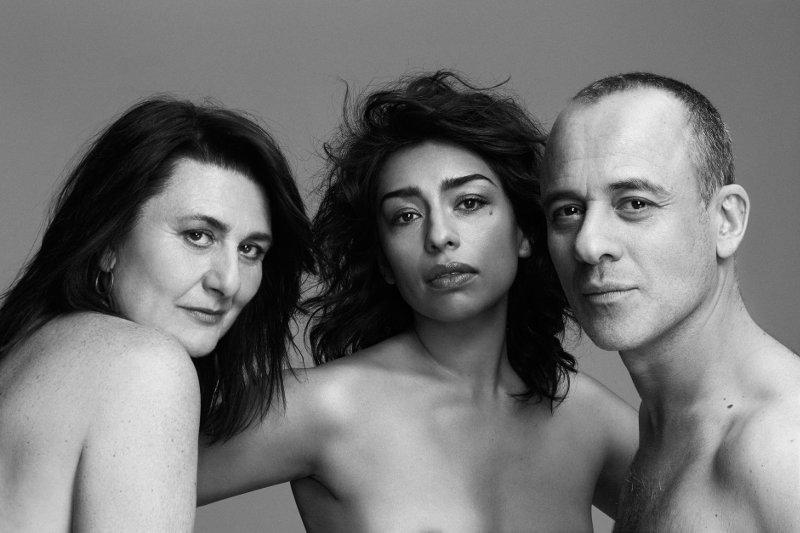 Adelfa Calvo, Adriana Paz y Javier Gutiérrez