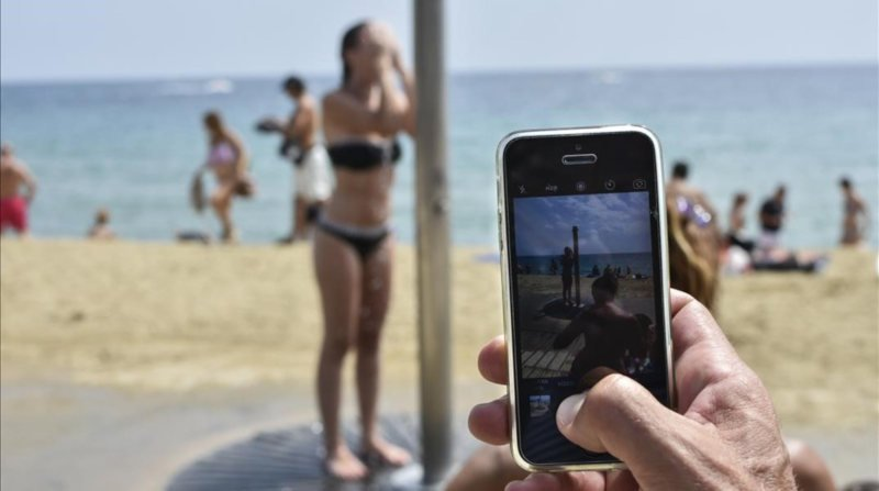 Fotos voyeur en la playa
