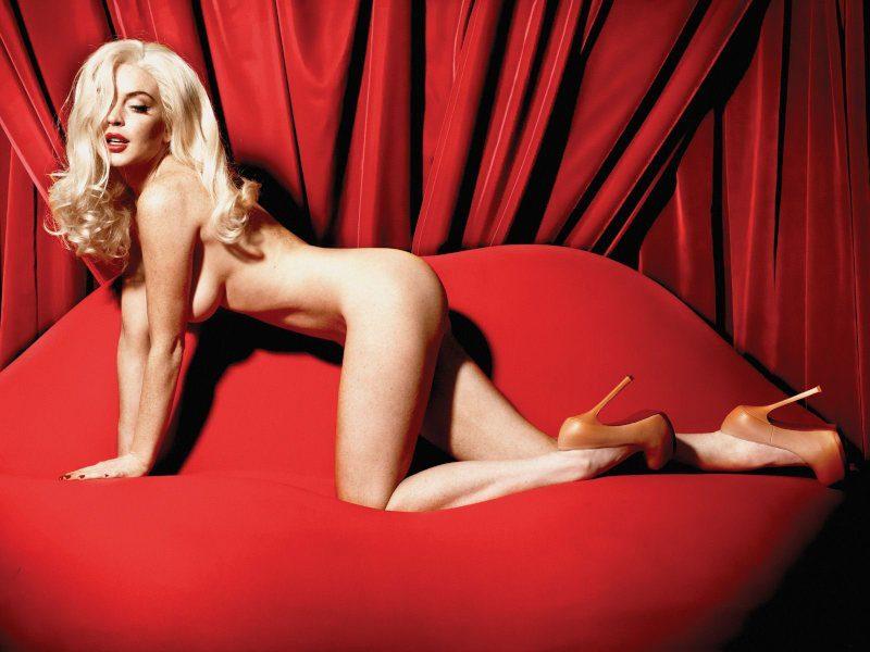 Lindsay Lohan desnuda